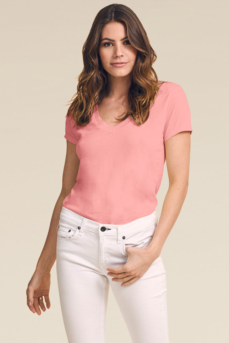 LOW V NECK BOYFRIEND TEE - RESORT 20