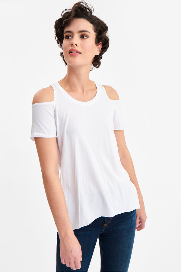 JANA COLD SHOULDER TEE