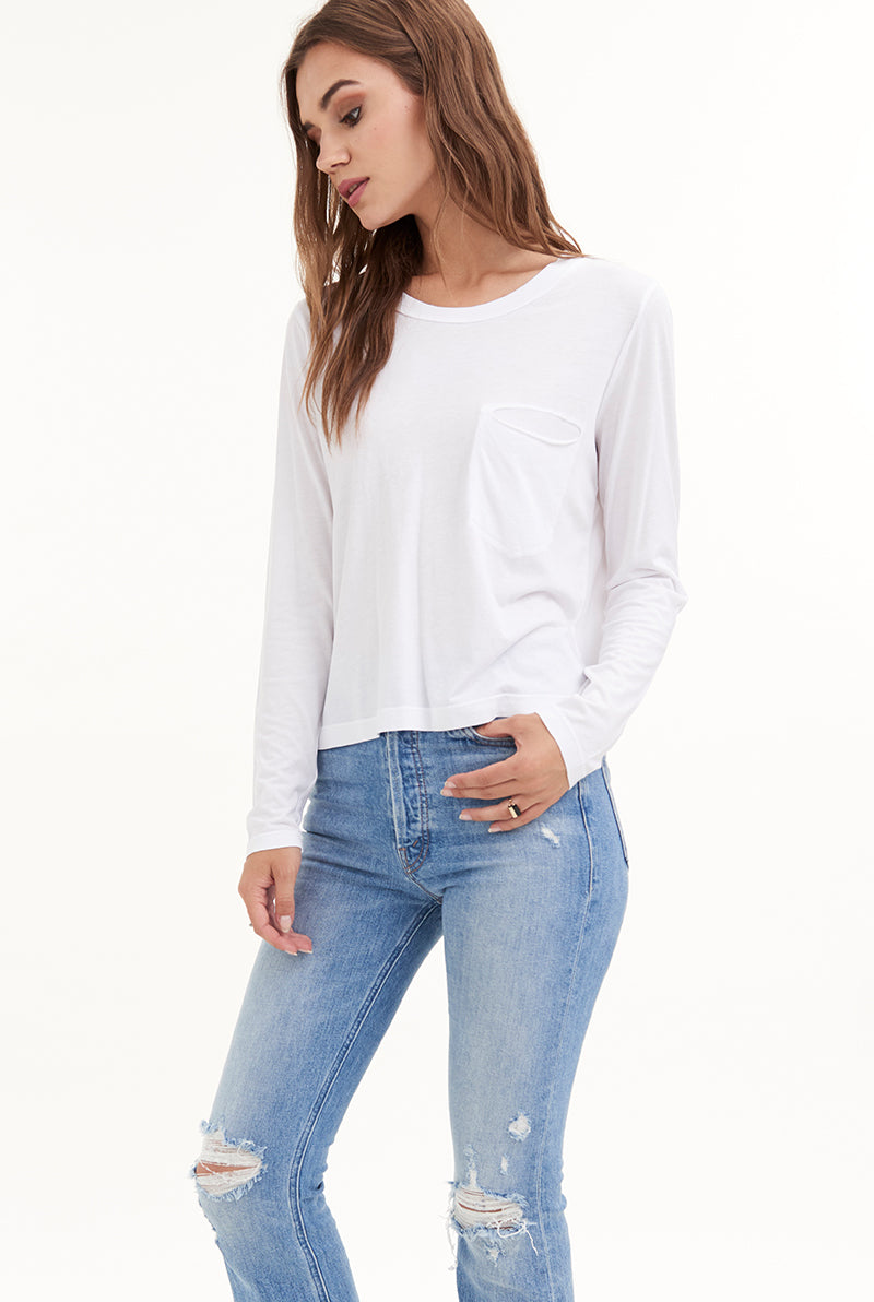 CYD LONG SLEEVE POCKET TEE