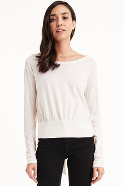 LYRIC LONG SLEEVE TIE TOP