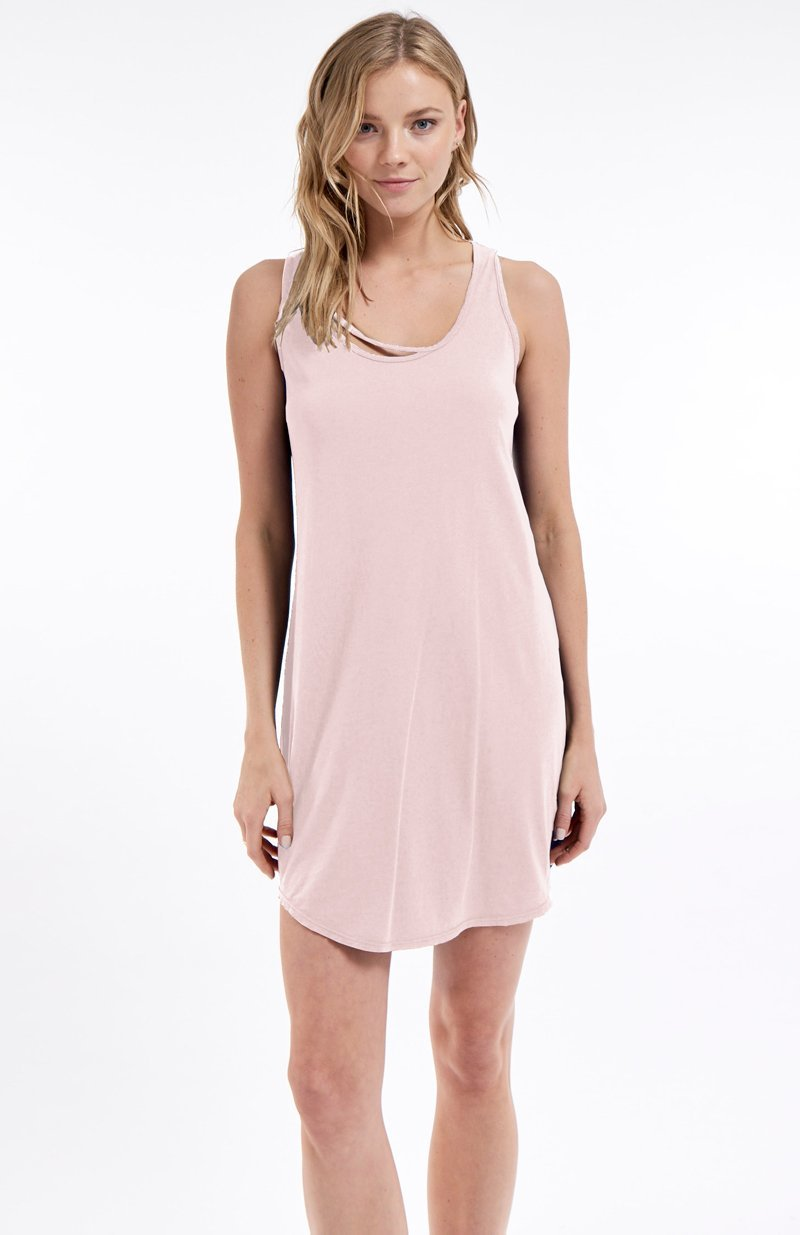 PINK POWER IVY TANK DRESS - ZEPHYR