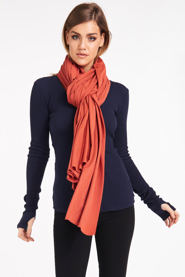 ZINGO SCARF - BURNT BRICK