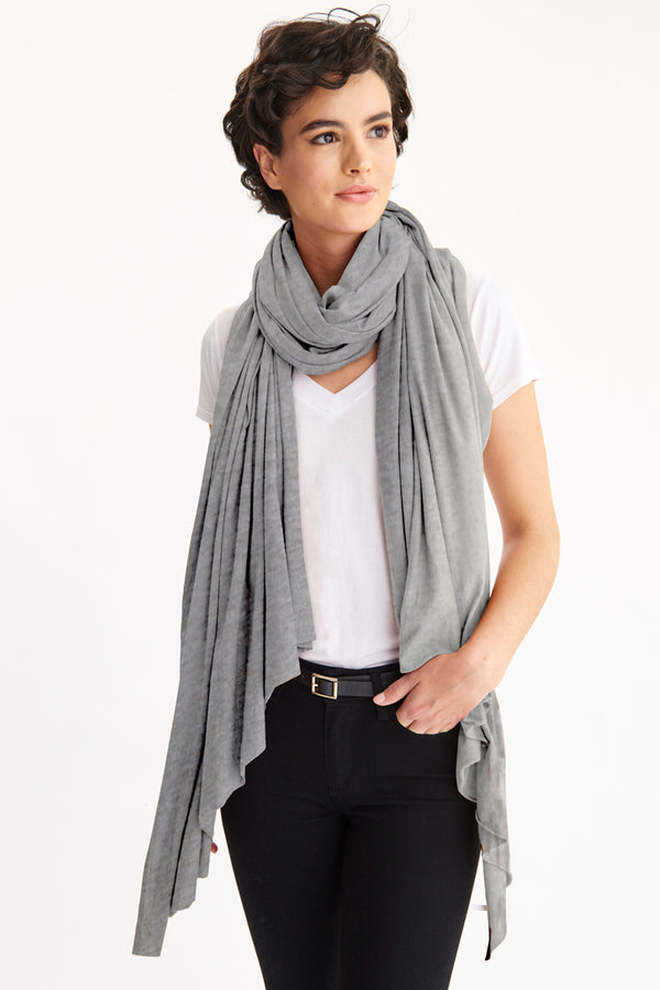 ZINGO SCARF - HEATHER GREY