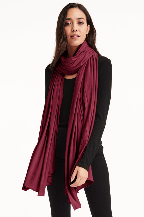 ZINGO SCARF - WINEBERRY