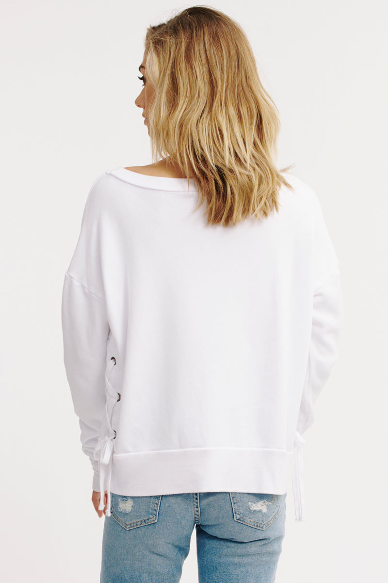BRINDLEY LACE UP SWEATSHIRT
