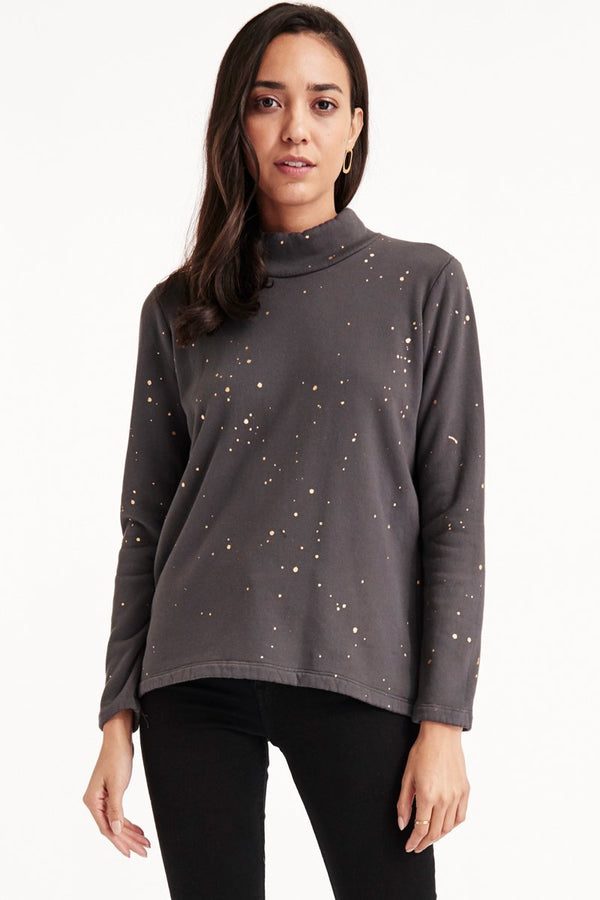 SIENA SWEATSHIRT - GOLD SPLATTER