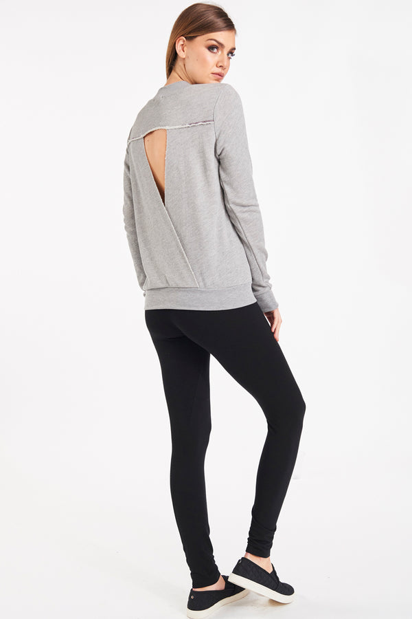 SIMONE TWIST BACK SWEATSHIRT