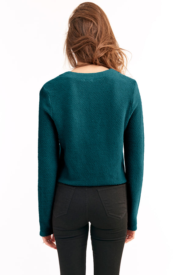 CARINE CROP SWEATER