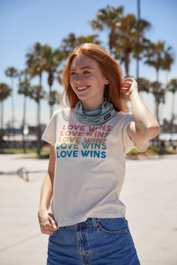 LOVE WINS RAINBOW TEE