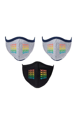 LIMITED EDITION - LOVE WINS RAINBOW PACK (3) - STYLISH FACE MASKS FOR MEN & WOMEN