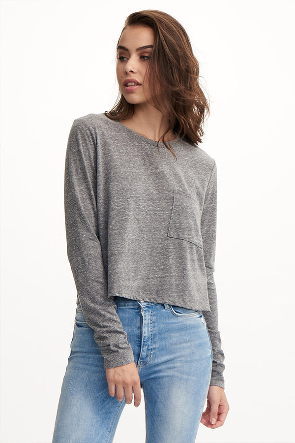 SONIC CROPPED LONG SLEEVE TEE
