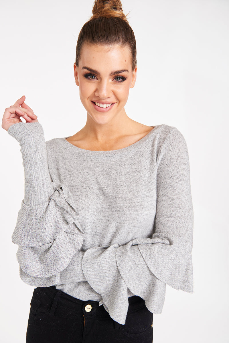 CARMEL RUFFLE SWEATER