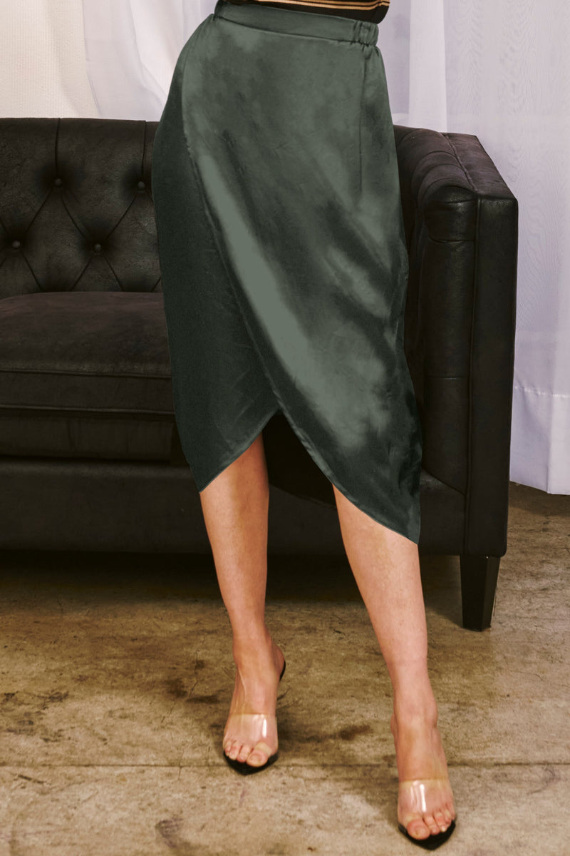 LANGLEY SILKY SKIRT