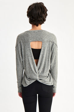 INTERMINGLE TWIST BACK SWEATER