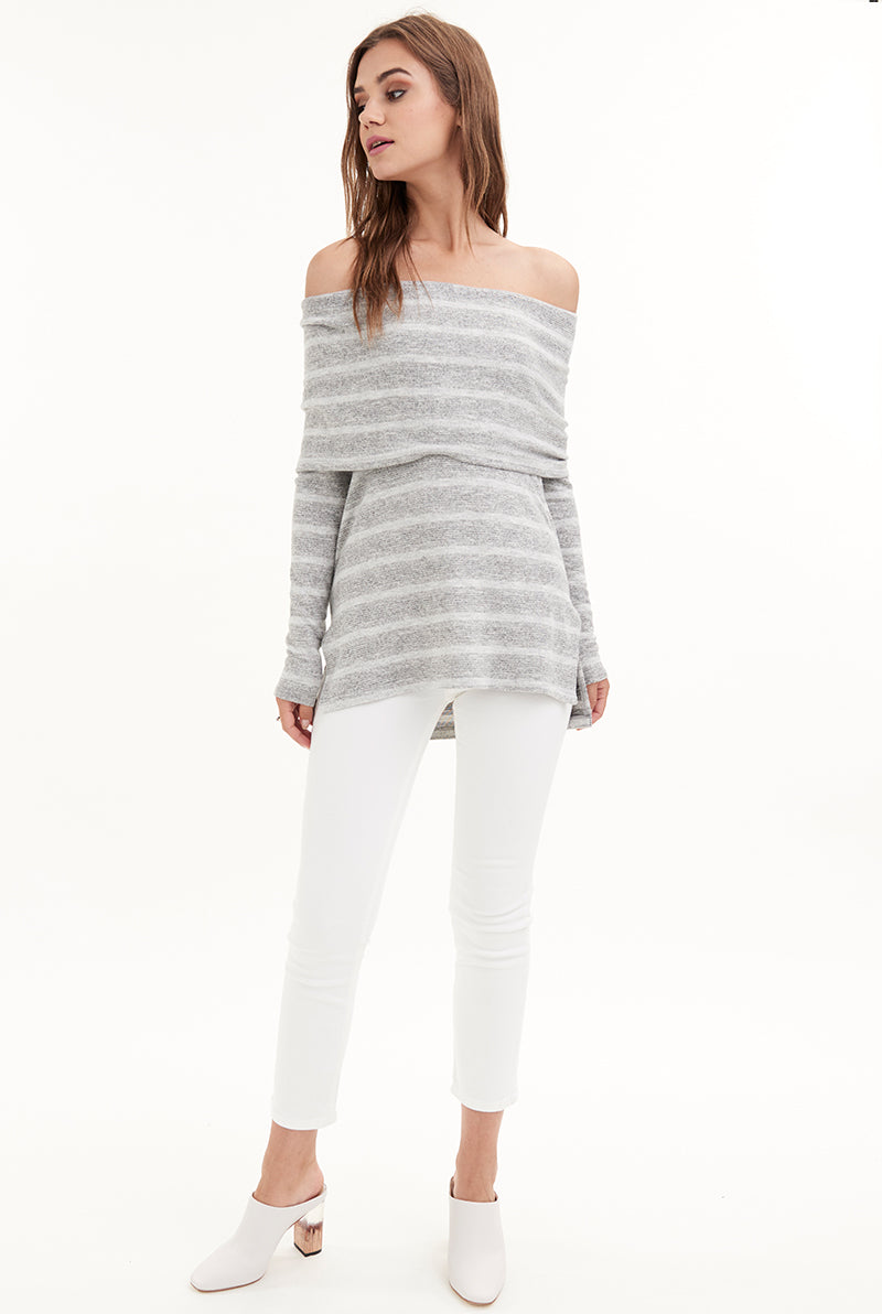 WILLA OFF-SHOULDER  SWEATER
