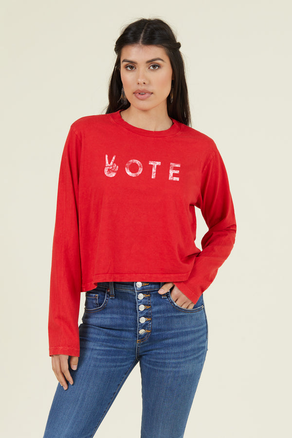 PEACE VOTE LONG SLEEVE
