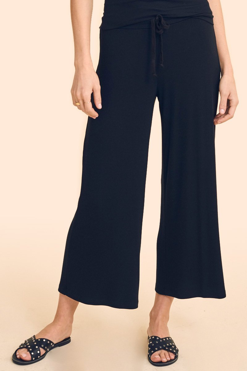 SHIRRED BACK CROP CULOTTE