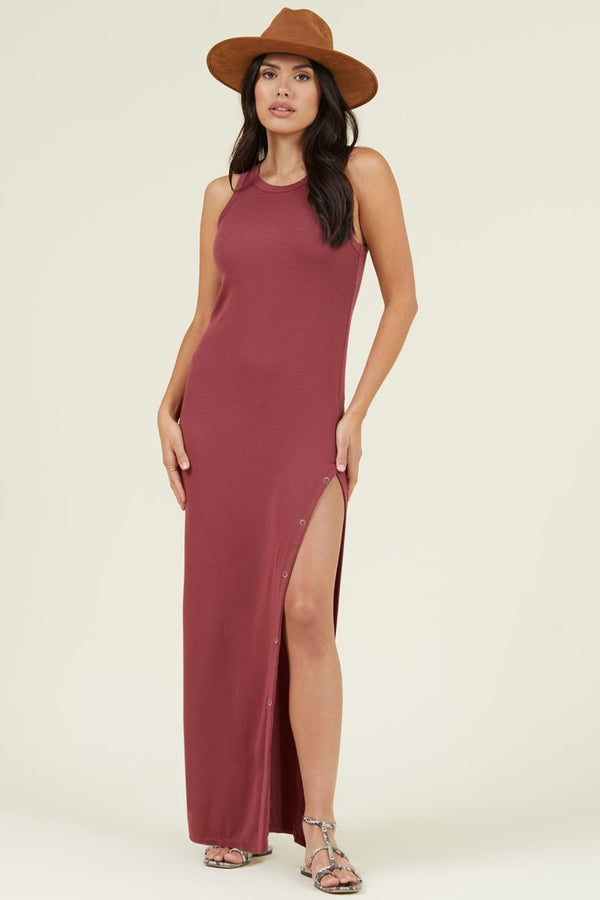 CABANA SIDE SNAP MAXI DRESS