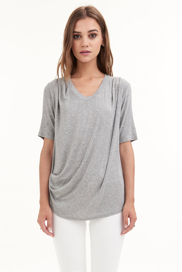 MARIGOT DRAPED TEE