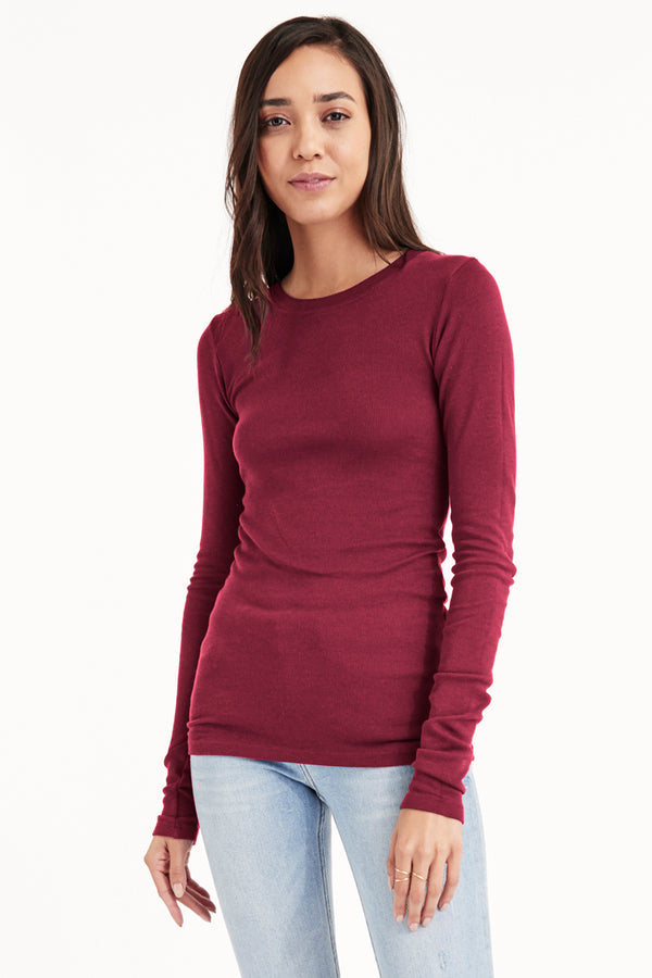 LONG SLEEVE THERMAL - WINEBERRY