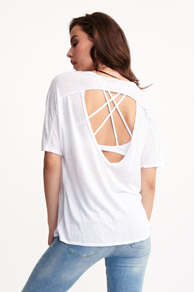 SURRI OPEN BACK TEE