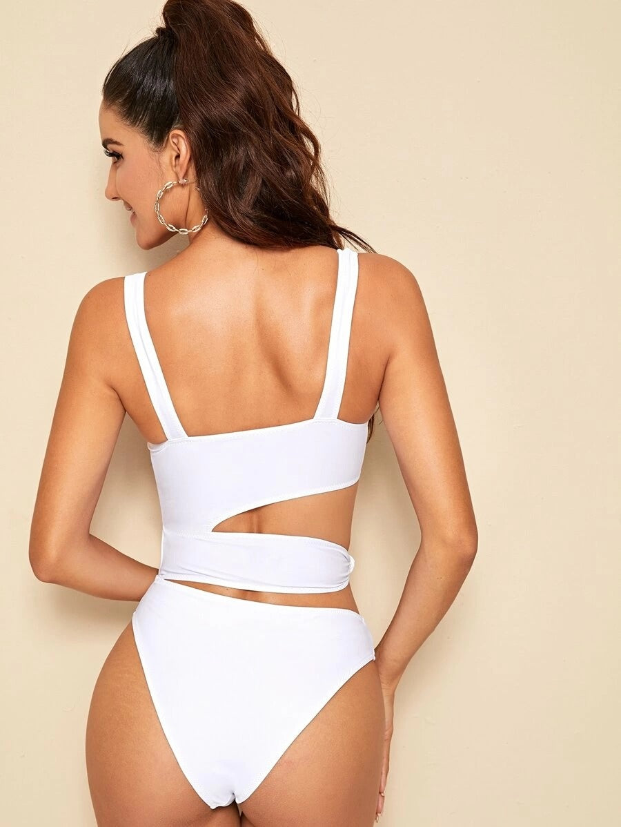 Cut Out One Piece Swimwear