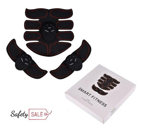 Safetysale Ultimate Abs Professional Stimulator in Black and Pink