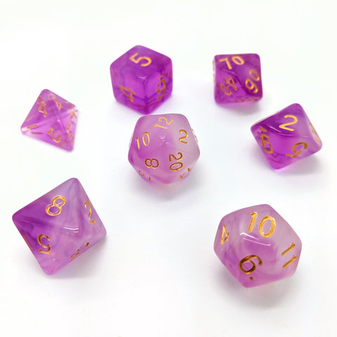 Milky Way in Purple | Dice Set