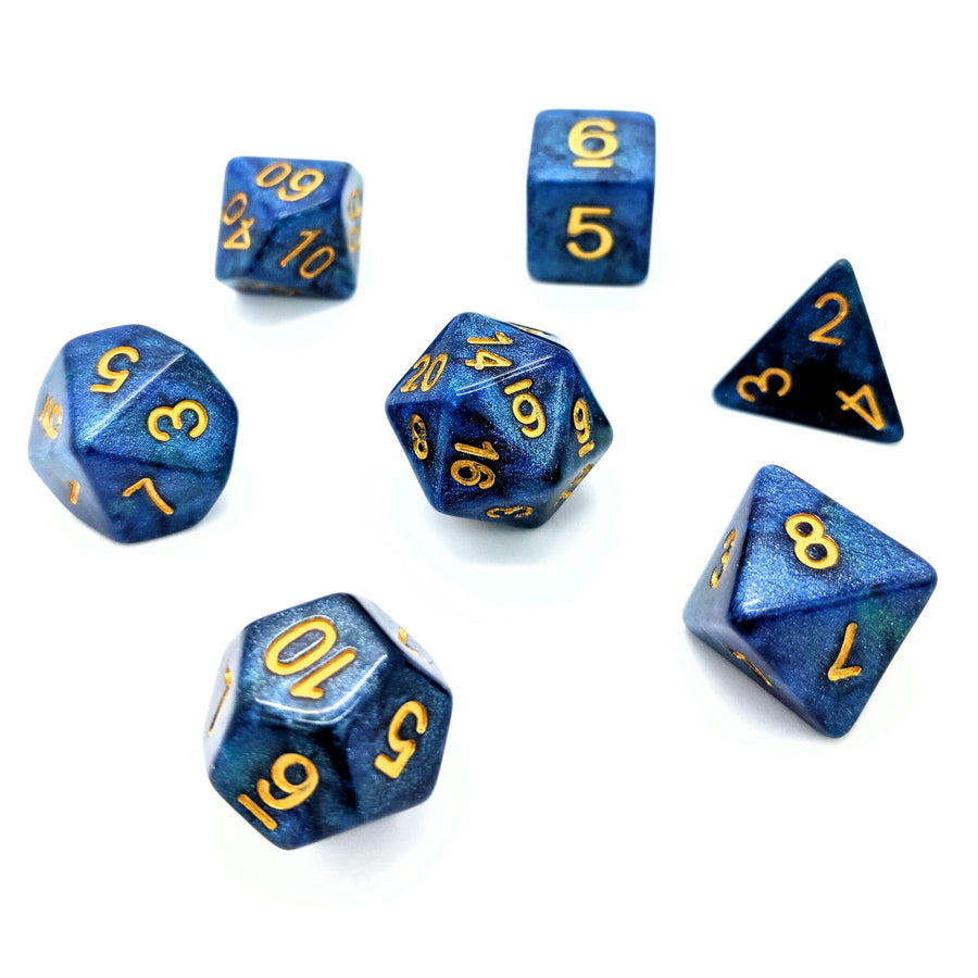 Nebula in Blue | Dice Set