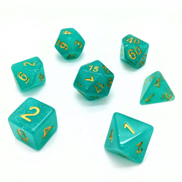 Twinkle in Aqua | Dice Set