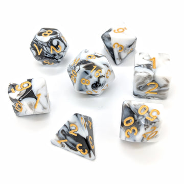 White Marble | Dice Set