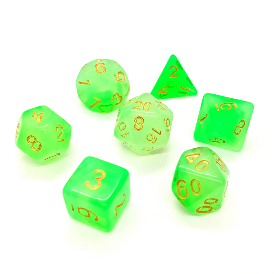 Milky Way in Green | Dice Set