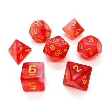 Milky Way in Red | Dice Set