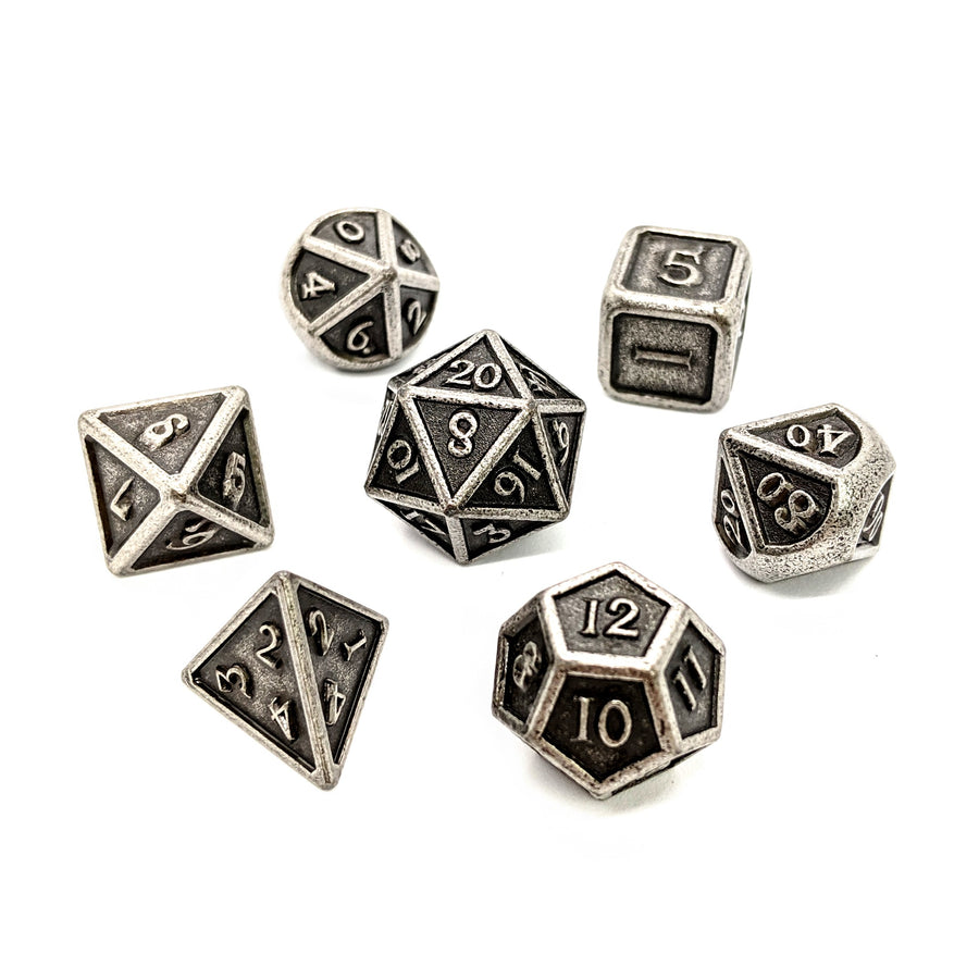 Aged Iron Metal Dice Set