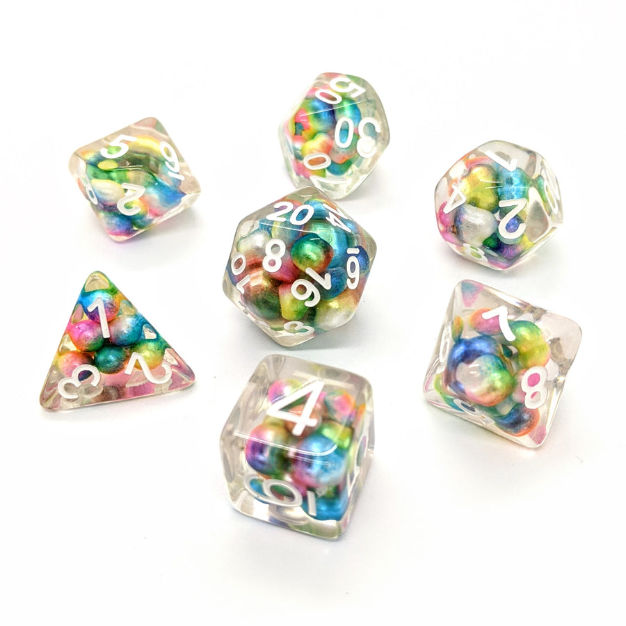 Rainbow Pearls | Dice Set