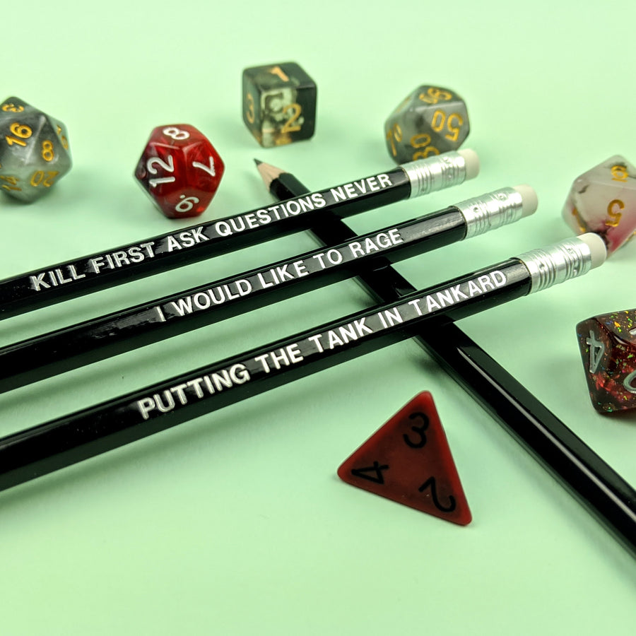 D&D Class Pencil Set | Barbarian