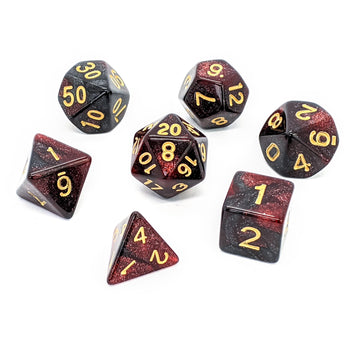 Space Dust in Red | Dice Set
