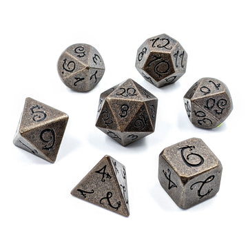 Dragon Forged Metal Dice | Aged Copper