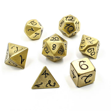 Dragon Forged Metal Dice | Brushed Bronze