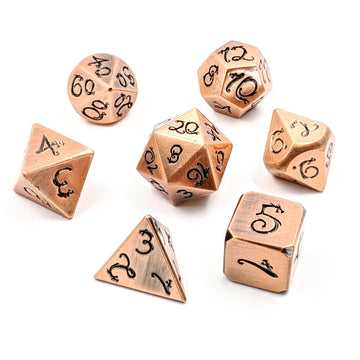 Dragon Forged Metal Dice | Brushed Copper