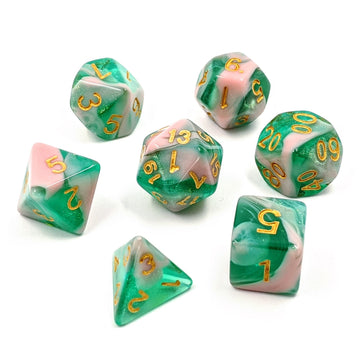 Pink Palm | Dice Set