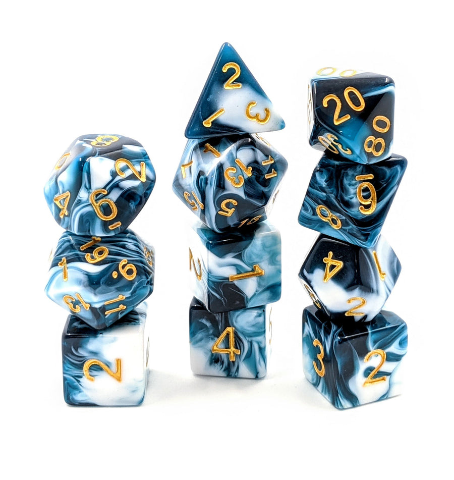 Teal Marble | 11pc Dice Set