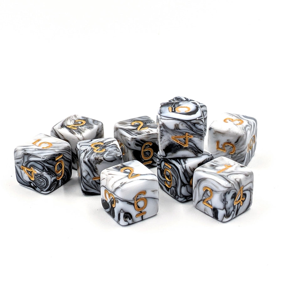 White Marble | D6 Dice Set
