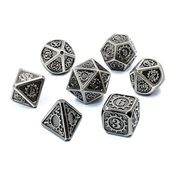 Steampunk Metal Dice | Iron