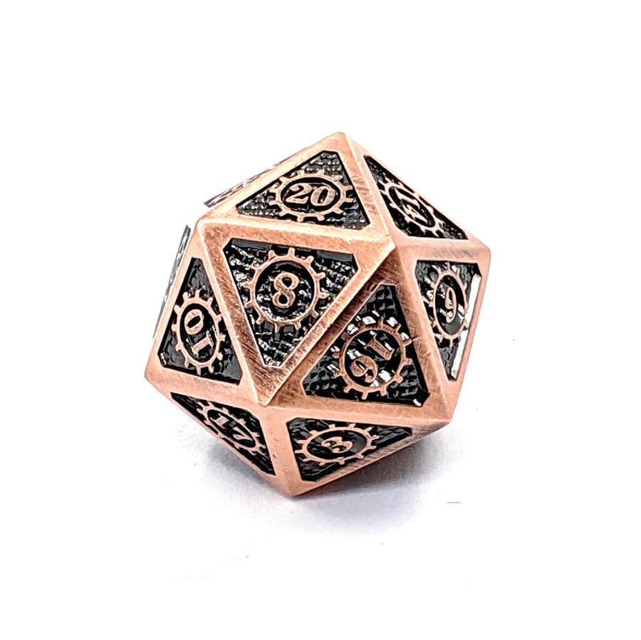 Steampunk Metal Dice | Copper