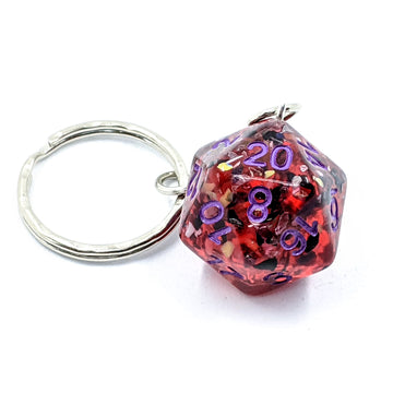 Recycled Resin in Red | Keyring