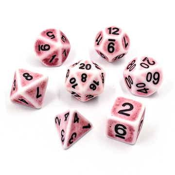 Ancient Rose Quartz | Dice Set