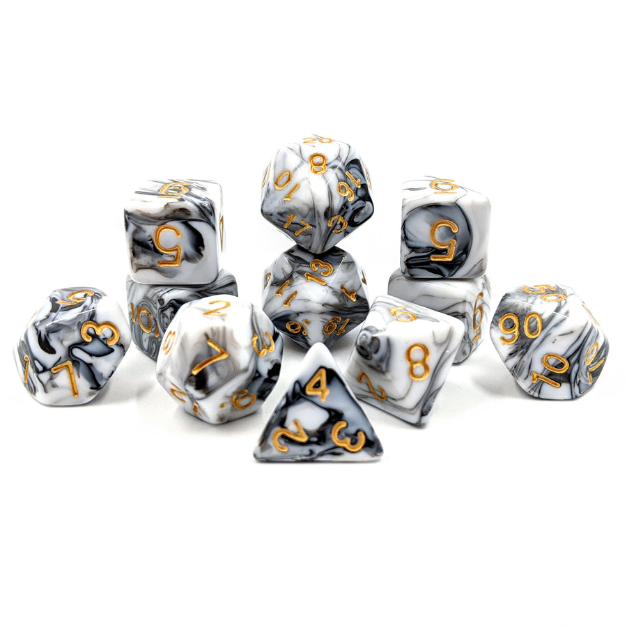 White Marble | 11pc Dice Set