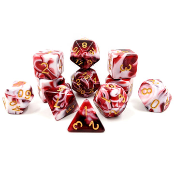 Red Marble | 11pc Dice Set