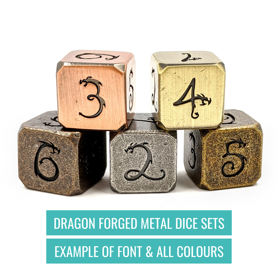 Dragon Forged Metal Dice | Aged Bronze